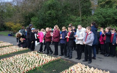 Saltwell Park Field of Remembrance.