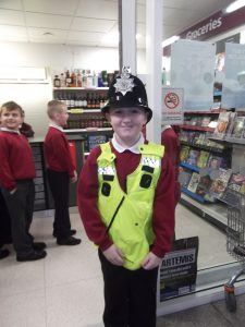 Christian was our acting officer on patrol for anyone up to no good.