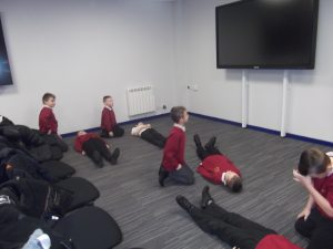 We all got to try putting our friends in the recovery position.