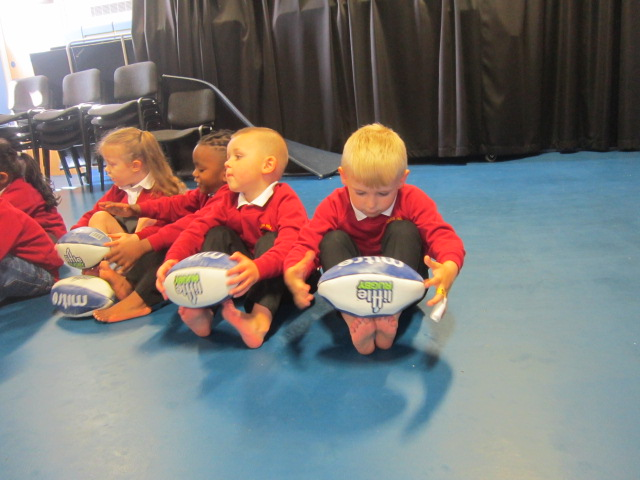 Little Rugby came to Nursery